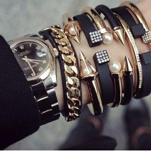Vita Fede Titan two-toned cuff bracelet